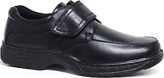 Cushion-Walk Mens Leather-Lined Lightweight Formal Business Work Comfort Lace-Up, Slip-on or Touch Fastening Shoes Size 6-11 Wide Fitting (Black. Strap, numeric_12