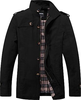 Wantdo Mens Casual Summer Jacket with Multi Pockets Black Medium