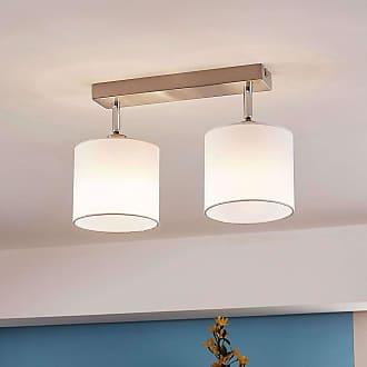 Lindby Lámpara de techo LED con pantalla textil, 2 llamas