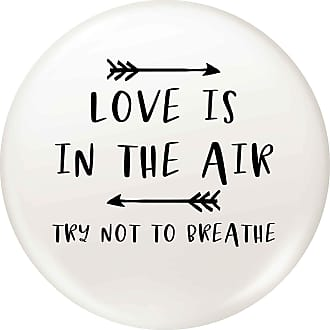Flox Creative 77mm Pin Badge Love is in the Air Try Not to Breathe