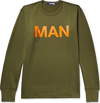 Junya Watanabe Printed Loopback Cotton-jersey Sweatshirt - Army green