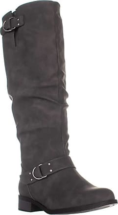 xoxo Womens minkler Leather Round Toe Mid-Calf Fashion Boots, Grey, Size 6.0 US / 4 UK US