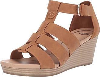 07da13bbd5 Dr. Scholls Womens Esque Wedge Sandal Soft Saddle Snake Print 7 M US