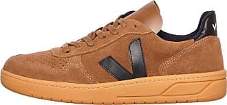 Veja V-10 Wildleder Brown Black Gum Sole Sneakers - leather   cloud white   44