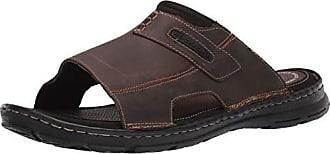 Rockport Mens Darwyn Slide 2 Sandal, Brown ii Leather, 14 W US