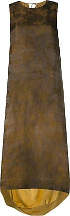 Uma Wang high low hem dress - Brown