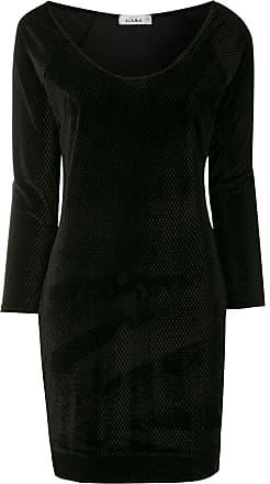 Amir Slama Kleid mit langen Ärmeln - Schwarz
