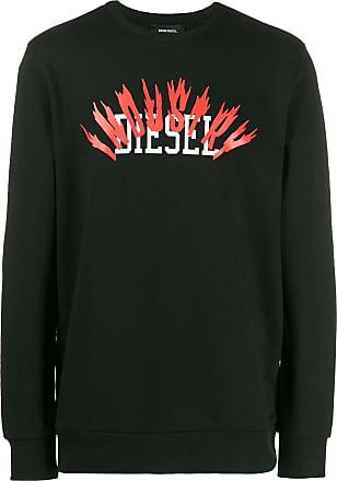 Diesel logo printed sweater - Black