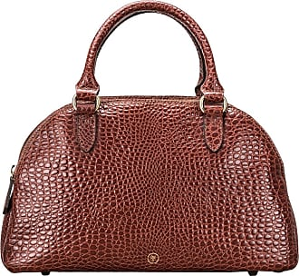 Maxwell Scott Maxwell Scott - Luxury Mock Croc Leather Ladies Bowling Bag