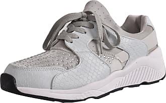 True Face Ladies Diamante Trainers Shoes Grey UK 3 / EU 36