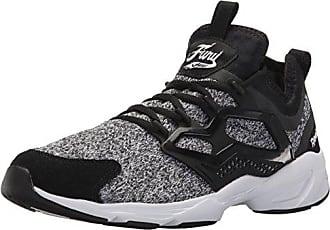 Reebok Mens Fury Adapt Fashion Sneaker, Black/White, 10 M US