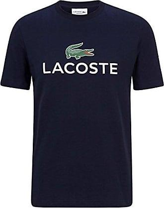 Lacoste TH7021 Klassisches Herren Basic T-Shirt mit Krokodil Logo Aufdruck,  Rundhals, Kurzarm e5914fc795