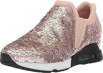 The Fix Womens Luca Slip-on Sequin Jogger Sneaker, Taupe Silver Matte, 8.5 B US