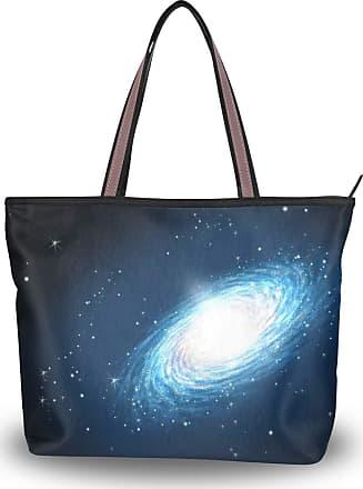Lorona Women Nebula Galaxy Space Cosmos Canvas Shoulder Hand Bag Large Capacity Tote Bag