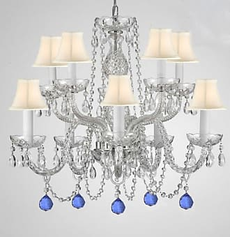 Gallery T22-2786 10 Light 24 Wide Chandelier with Fabric Shades and
