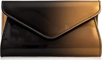 LeahWard Womens Envelope Clutch Purse Patent Evening Shoulder Bags Handbag 103 (Gold 443)