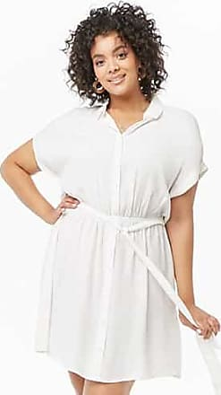 Forever 21 Plus Forever 21 Plus Size Shirt Dress Ivory