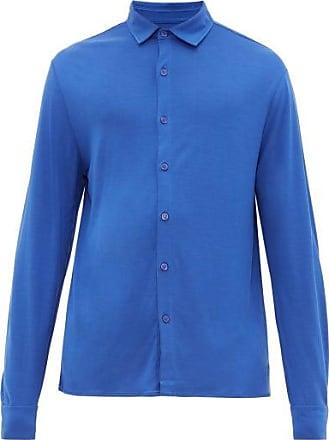 Vilebrequin Calandre Logo-embroidered Shirt - Mens - Blue