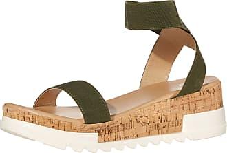 Yoki Womens BRENDA-10 Flat Sandal, Olive, 4.5 UK