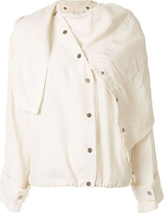 3.1 Phillip Lim Sateen Jacket with Removable Scarf - NEUTRALS
