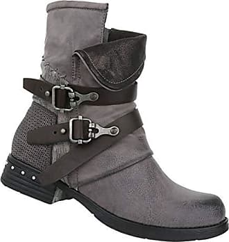 ec36cd3f864989 Schuhcity24 Damen Schuhe Stiefeletten Nieten Stiefel Kurze Boots Grau 39