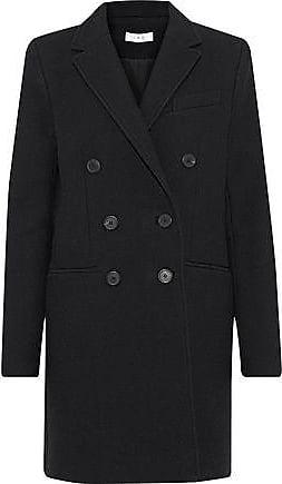 Iro Iro Woman Kascko Double-breasted Wool Twill Coat Black Size 38