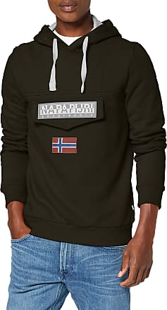 Napapijri Mens BURGEE 2 Hooded Sweatshirt, Green Forest 2 Ge3, XXS