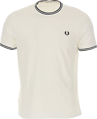 Fred Perry T-Shirt Uomo On Sale, Bianco, Cotone, 2019, L M S XL