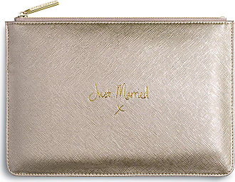 Katie Loxton Perfect Pouch - Just Married - Metallic Gold