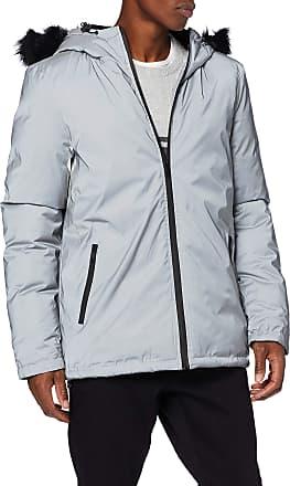 Religion Mens Summit Fur Jacket Parka, Silver (Silver Reflective 036), X-Large (Size:XL)