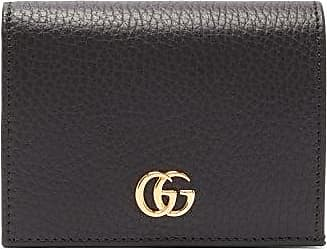 Gucci GG Marmont Grained-leather Wallet - Womens - Black