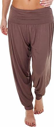 Love my Fashions Womens Pants Trousers Alibaba Harem Ankle Cuff, Plain - Mocha, XX-Large/XXX-Large