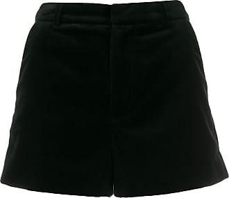 Zadig & Voltaire high-waisted velvet shorts - Black