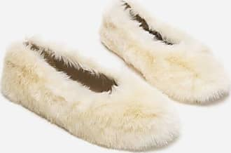 Flattered Nina White Faux Fur