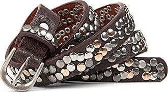 Vintage Style mehrfarbige Nieten Nietengürtel kürzbar schmal