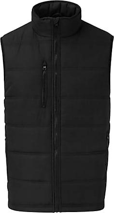 Islander Fashions Mens Multi Pocket Fortress Bodywarmer Vest Adults Work Wear Softshell Waistcoat Black 3X Large