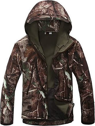 Saoye Fashion Outdoor Sports Men Up Größed Soft Shell Waterproof Camouflage Fleece Feast Clothing Lining Coat Jackets 2019 Mens Clothing (Color : English Oak, Size