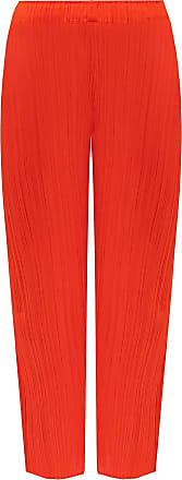Issey Miyake Pleaed Trousers Womens Red