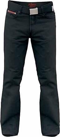 Duke London Mens Mario Bedford Cord Trousers with Belt (30S) (Black)
