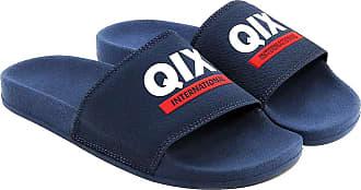 Qix Chinelo Slide QIX Logo International - Marinho - 43/44