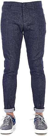 Dondup Fashion Man UP235LS0003890 Blue Linen Pants | Spring Summer 20