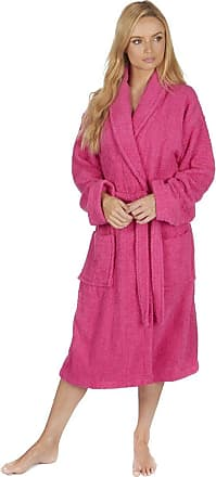 Forever Dreaming Ladies Towelling Dressing Gown Bathrobe Hot Pink Large