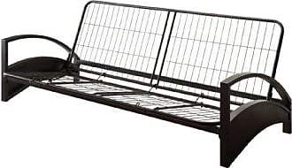 Dorel Home Products DHP Alessa Futon with Modern Metal Frame, Multifunctional Converts from Sofa to Bed, Full, Black