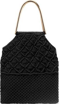 Ulla Johnson Kala Crocheted Cotton Tote - Black