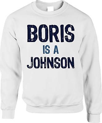 Tim And Ted Boris Johnson Jumper Political Prime Minister Opinion - (White/X-Large)