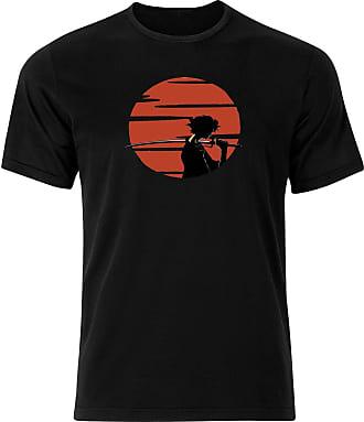 Fruit Of The Loom Sunset Samurai Edo Period Tokugawa Mugen Ninja Champloo Tshirt Tee Top - Black - 24 inches - XX-Large