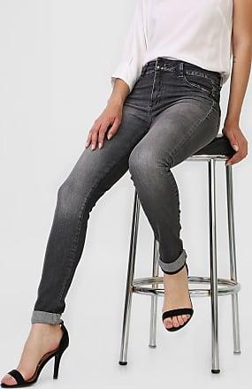 Sawary Calça Jeans Sawary Slim Estonada Preta