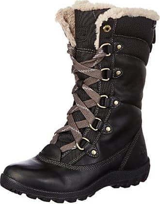 Timberland Womens MOUNT HOPE F/L WP Insulated Boot, Black, 8.5 M US