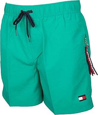 Tommy Hilfiger Drawstring Swim Shorts - Green (Small)