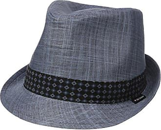 9c0df7e6e740ce Ben Sherman Mens Textured Linen Fedora Hat, Staples Navy, S-M